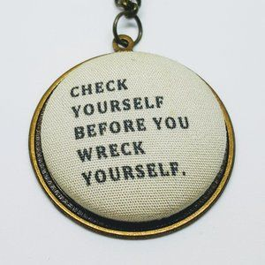 Check Yourself Ice Cube 90s Hip Hop Chain Necklace